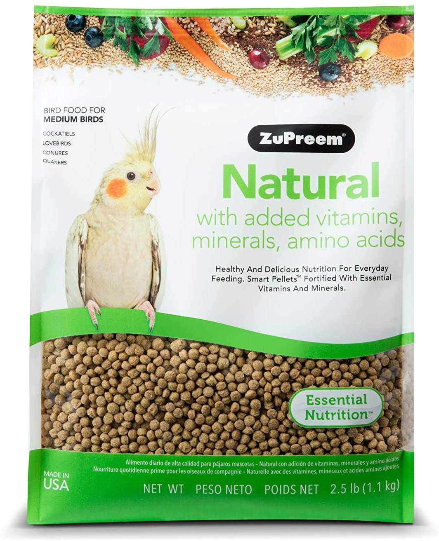 ZuPreem Natural Bird Food Smart Pellets for Medium Birds