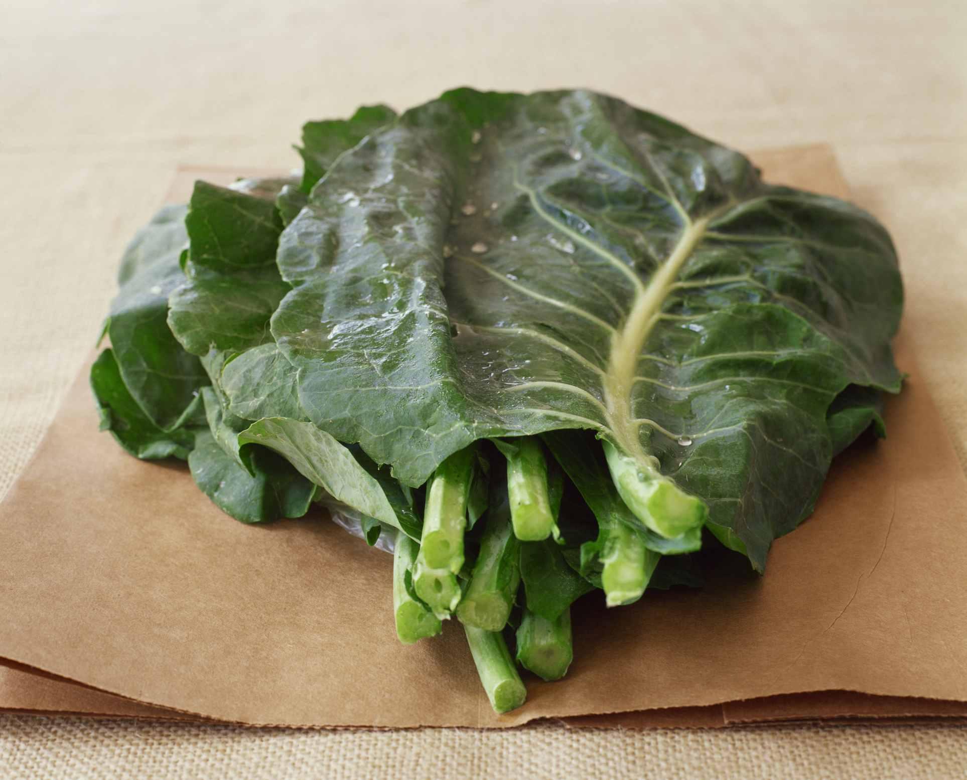 Raw collard greens