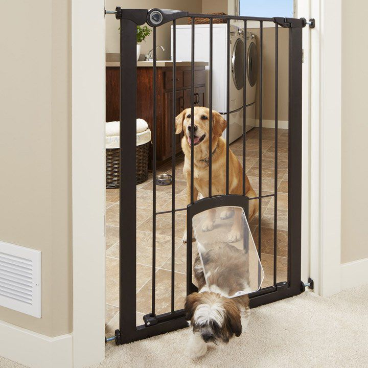 MyPet Extra Tall Petgate Passage Gate with Small Pet Door
