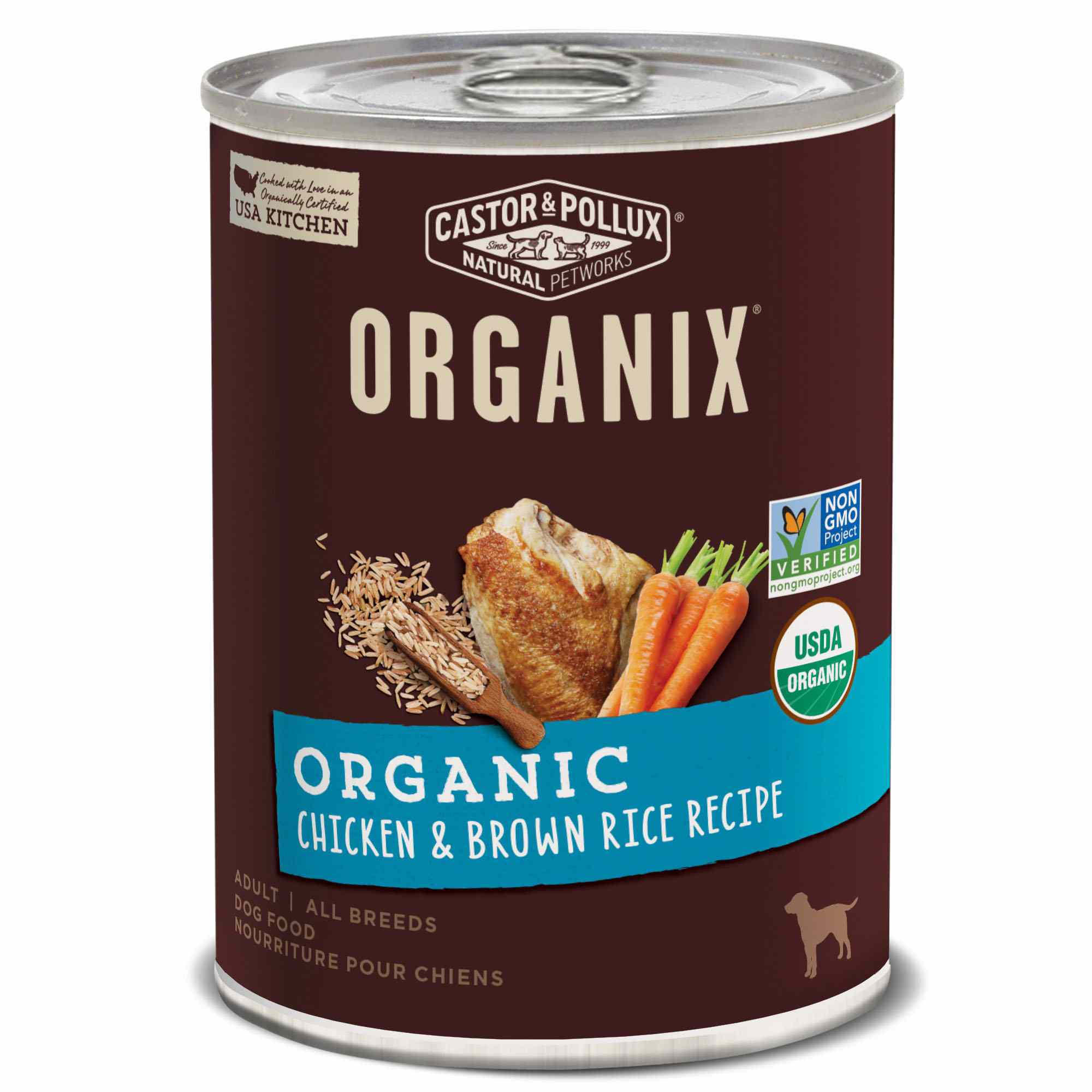Castor & Pollux Organix Organic Chicken & Brown Rice Recipe Adult Canned Dog Food