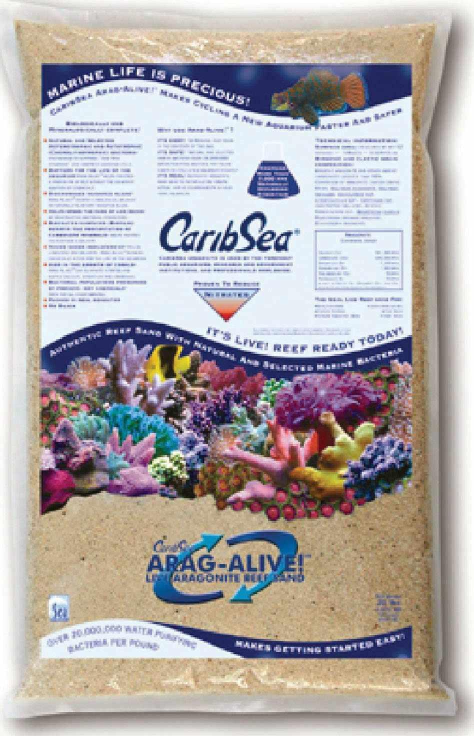 Carib Sea Arag-Alive 20-Pound Special Grade Reef Sand