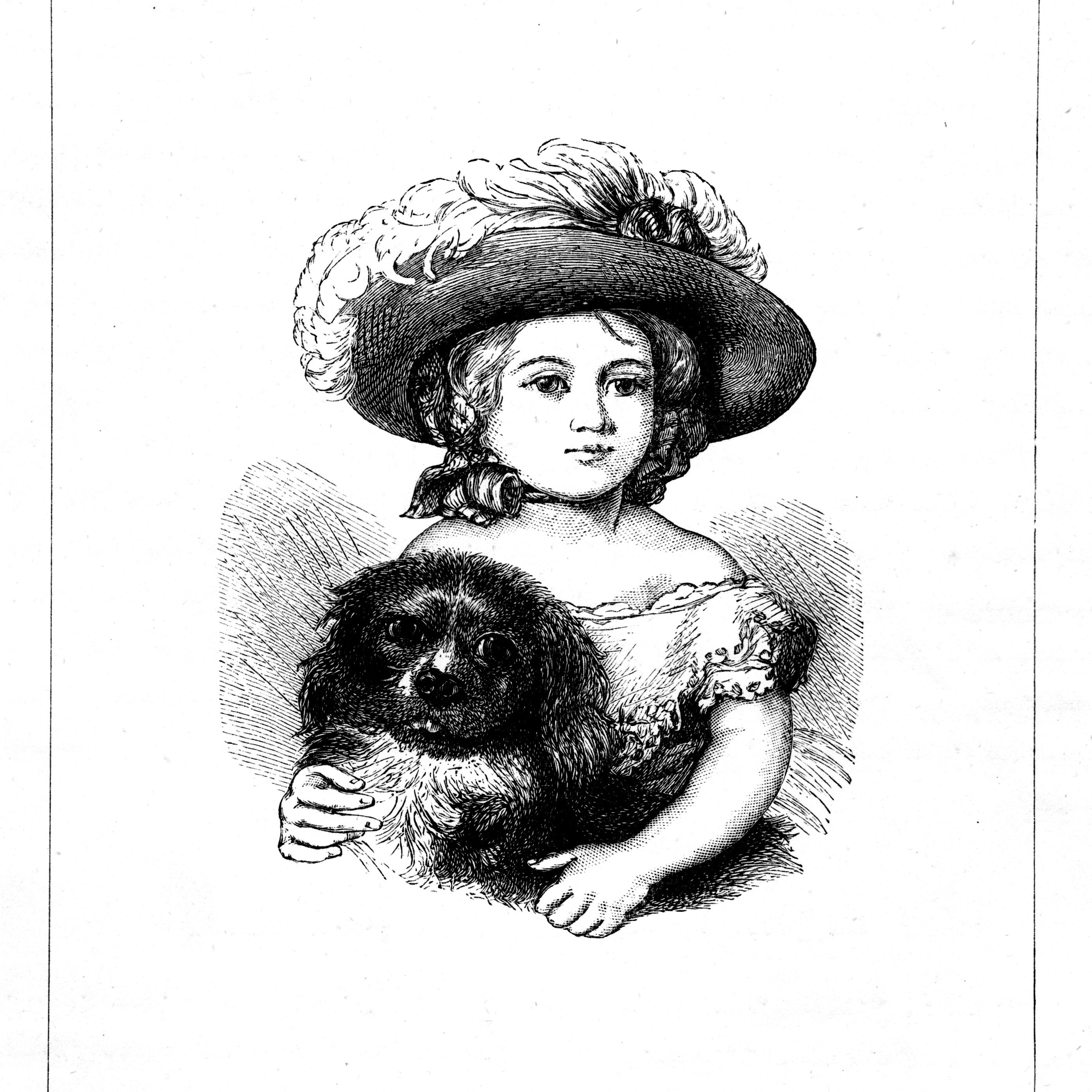Princess Victoria and her Spaniel