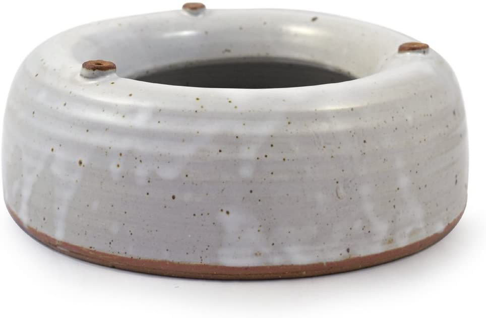 Modern Artisans Heavy-Weight Splash-Resistant Stoneware Water Bowl for Dogs and Cats
