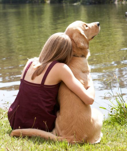 Dog and Owner Hug