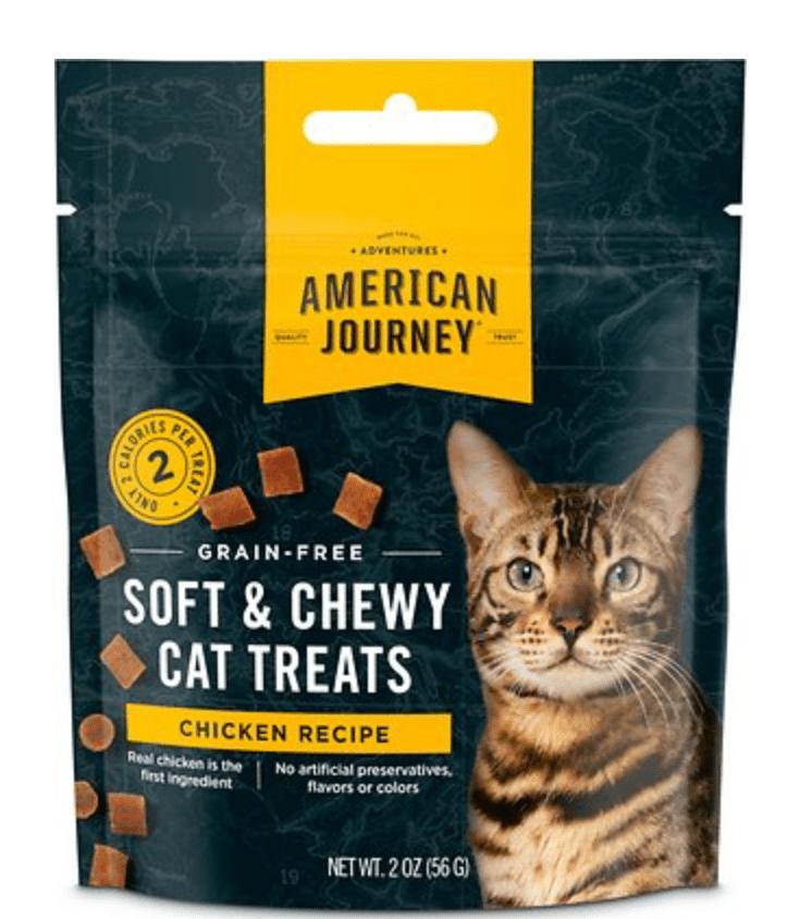 American Journey Chicken Recipe Grain-Free Soft & Chewy Cat Treats