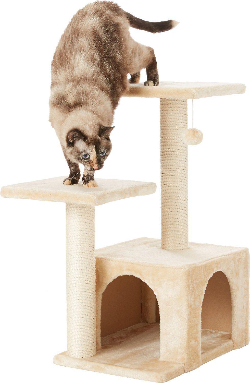Frisco 28-in Faux Fur Cat Tree & Condo