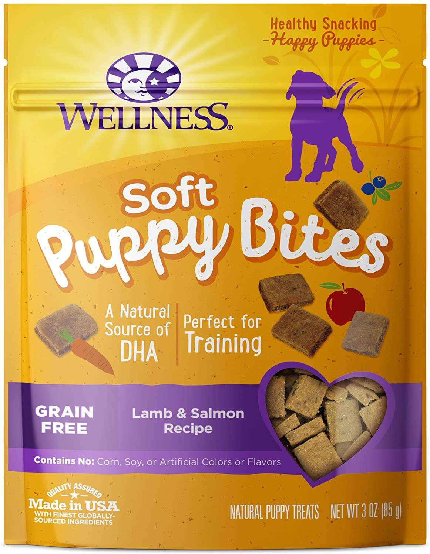 Wellness Natural Grain Free Lamb & Salmon Recipe Soft Puppy Bites Dog Treats