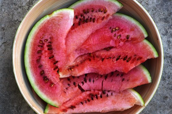 watermelon in bowl