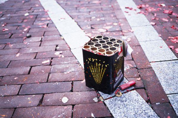 Box of firecracker casings