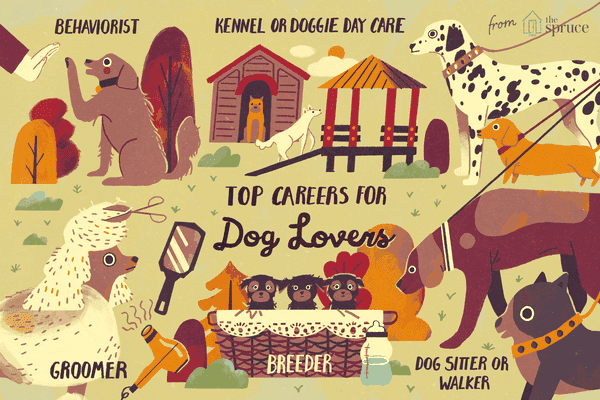 illustration of top careers for dog lovers