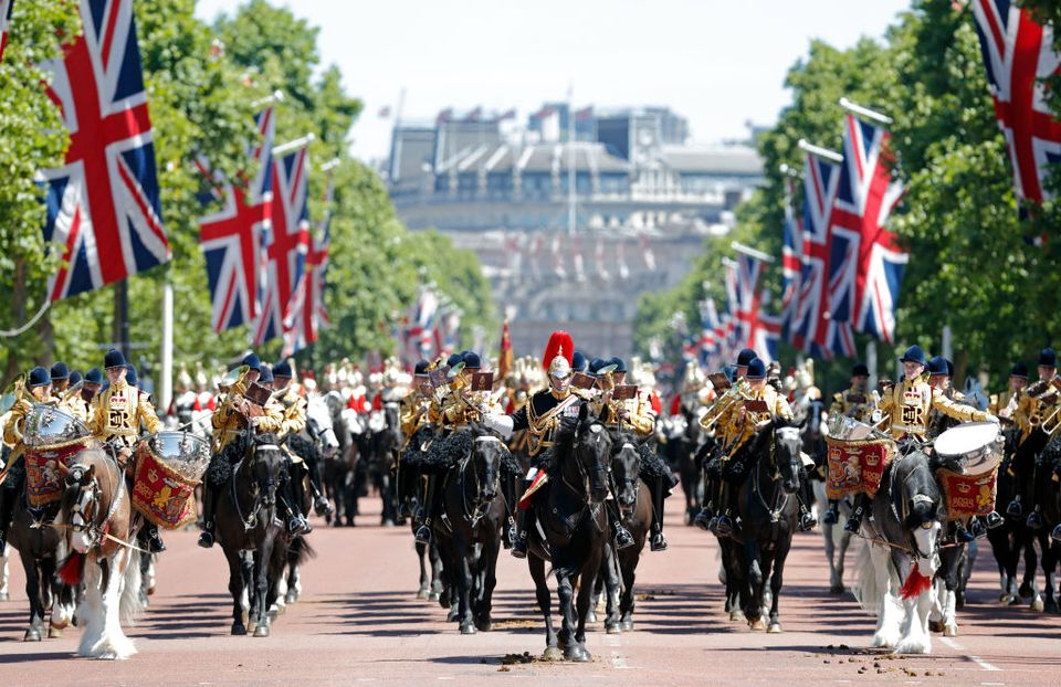 Parade for the Queen featuring Drum Horses in the UK